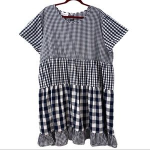 Country Store Gingham Tiered Cotton Dress